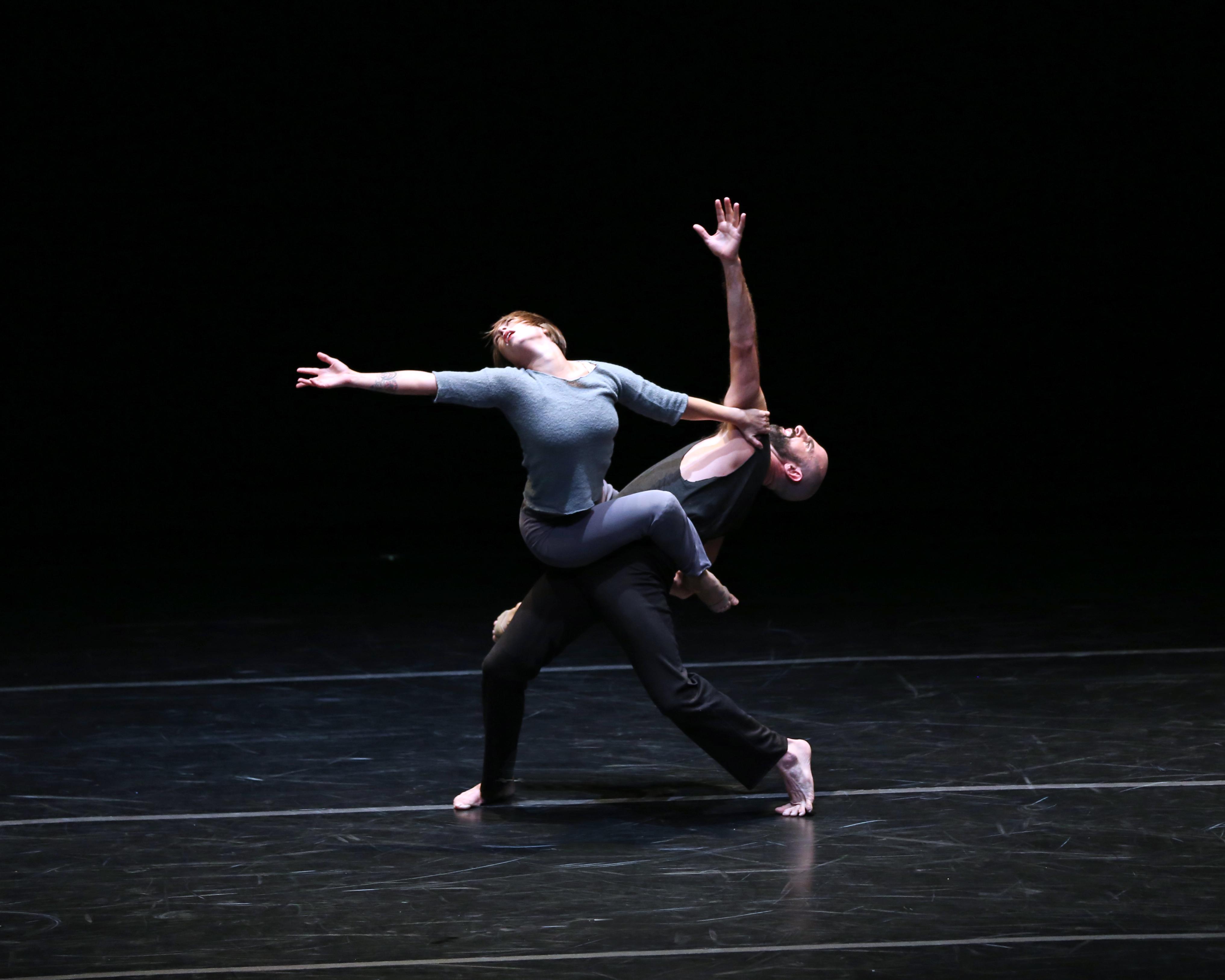 Crisis Variations, Photo by Bill Herbert. Dancers: Skarpetowska and McGinnis.
